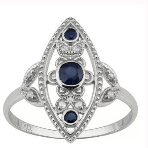 Jewelry - 925 Vintage Blue Sapphire Ring